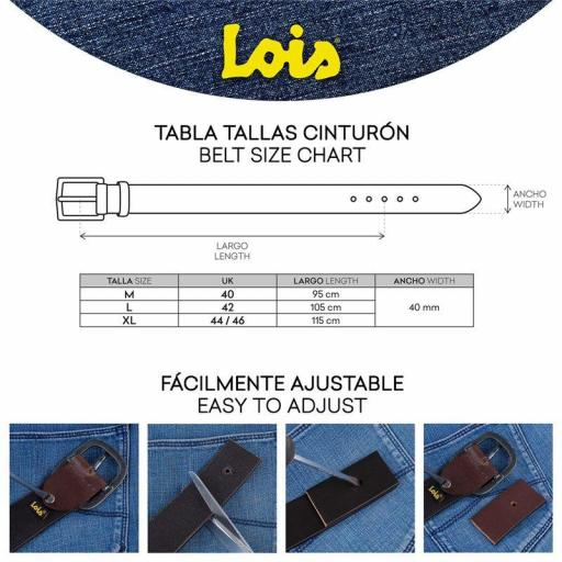Lois Jeans Cinturón Logo Grabado 501013 negro [3]