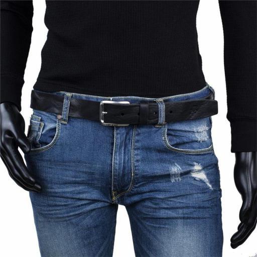 Lois Jeans Cinturón Logo Grabado 501013 negro [1]