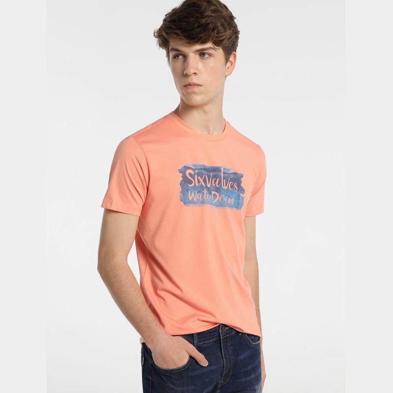 Six Valves Camiseta Logo Naranja 5089 222 315