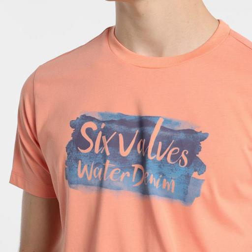 Six Valves Camiseta Logo Naranja 5089 222 315 [2]