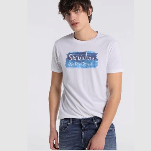 Six Valves Camiseta Logo Blanca 121215