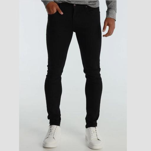 Six Valves Pantalón Denim Super Skinny negro 5100 667 999