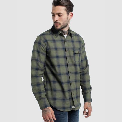 Six Valves Camisa Cuadros 116673