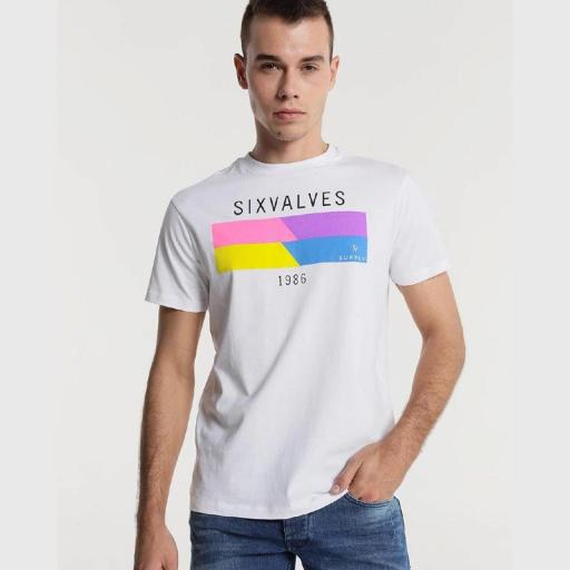 Six Valves Camiseta Fluor Blanca