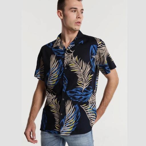 Six Valves Camisa Print Hojas 118355