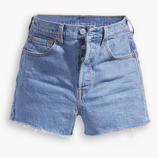 Levi's Ribcage Shorts Tango Stonewash 77879-0005. Vaquero corto mujer [3]