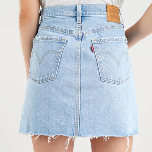 Levi's High Rise Deconstructed Skirt Luxor Heat 77882-0040. Minifalda vaquera [1]