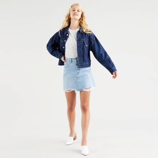 Levi's High Rise Deconstructed Skirt Luxor Heat 77882-0040. Minifalda vaquera [2]