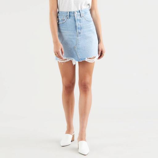 Levi's High Rise Deconstructed Skirt Luxor Heat 77882-0040. Minifalda vaquera [0]