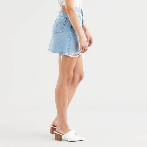Levi's High Rise Deconstructed Skirt Luxor Heat 77882-0040. Minifalda vaquera [3]