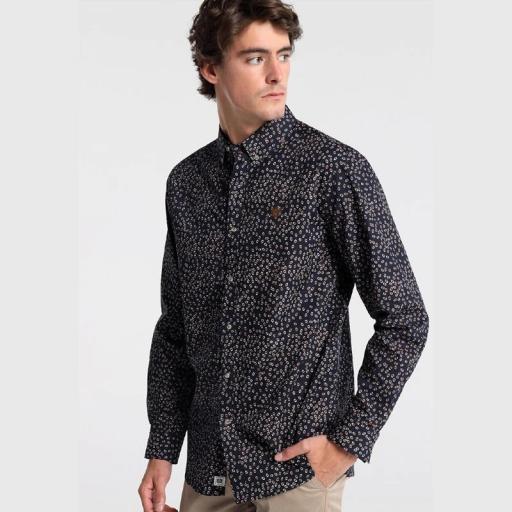 Bendorff Camisa para hombre Microestampado 122332