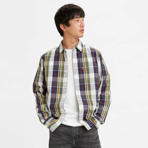 Levi's® Classic Standard Fit 1 Pocket Shirt - Dholak Peacoat 857480084. Camisa hombre