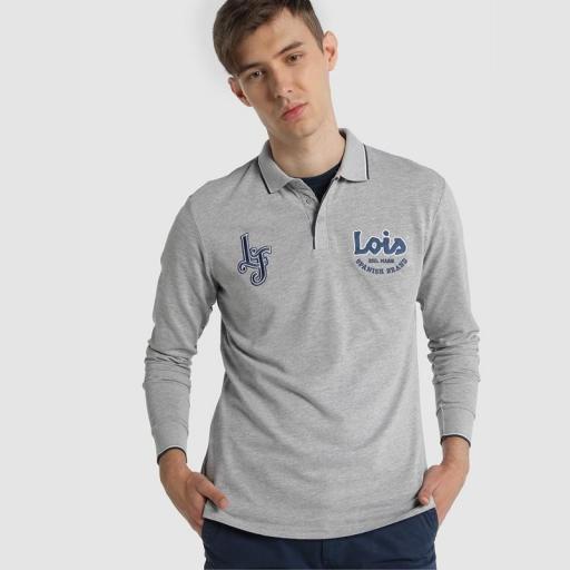 Lois Jeans Polo Elthon Elios gris [0]