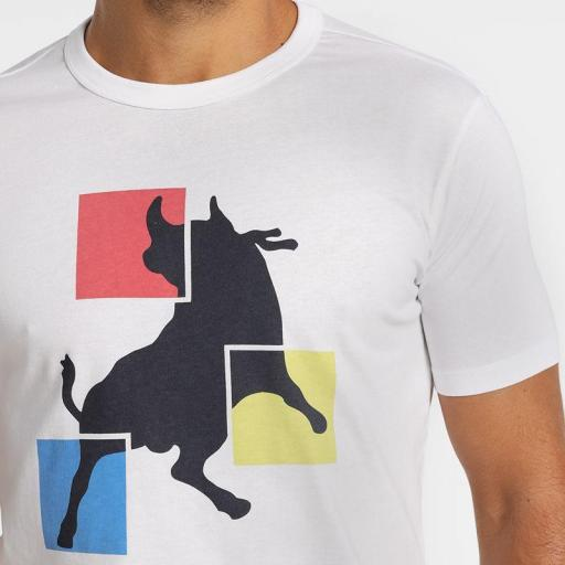 Lois Jeans Camiseta Frigo Central blanca 122101 [2]