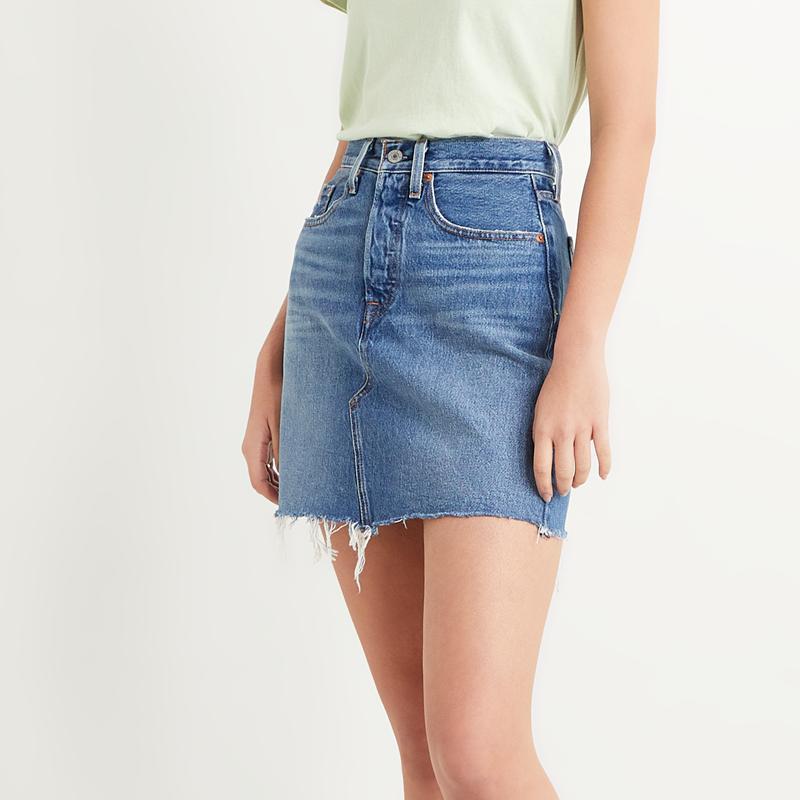 Levi's High Rise Deconstructed Skirt 77882-0020. Minifalda vaquera