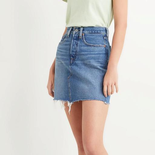 Levi's High Rise Deconstructed Skirt 77882-0020. Minifalda vaquera