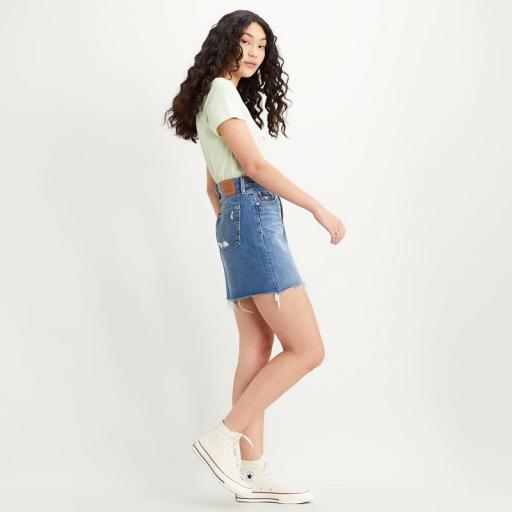 Levi's High Rise Deconstructed Skirt 77882-0020. Minifalda vaquera [1]