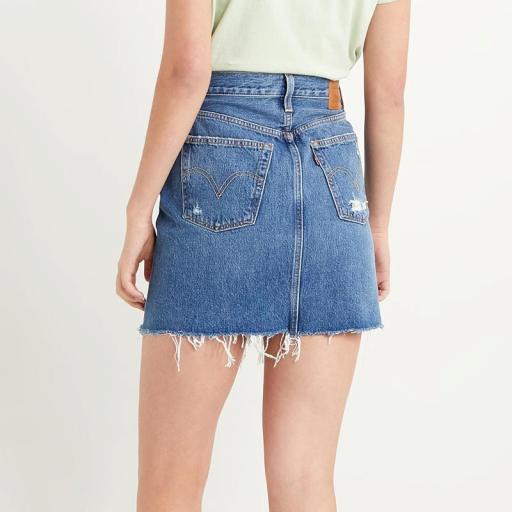 Levi's High Rise Deconstructed Skirt 77882-0020. Minifalda vaquera [2]