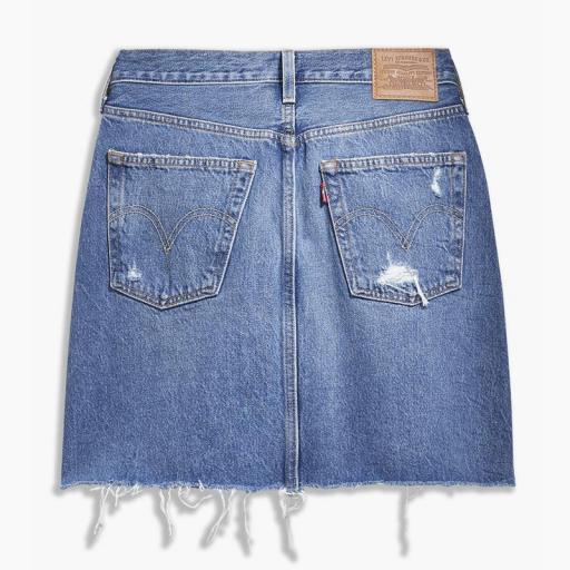 Levi's High Rise Deconstructed Skirt 77882-0020. Minifalda vaquera [3]