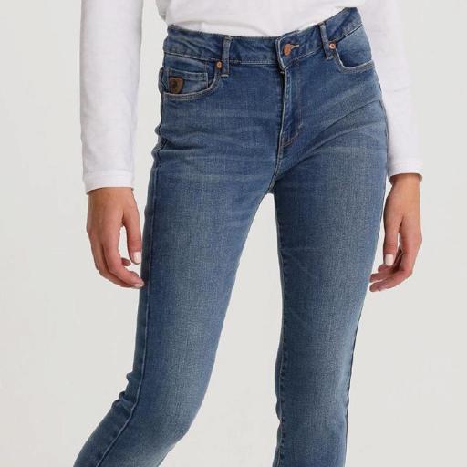 Lois Jeans Pantalón Denim Mujer Lua Zennet Medium 119512 [3]