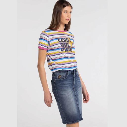 Lois Jeans Falda Vaquera Lucy Skirt Daem 410242717