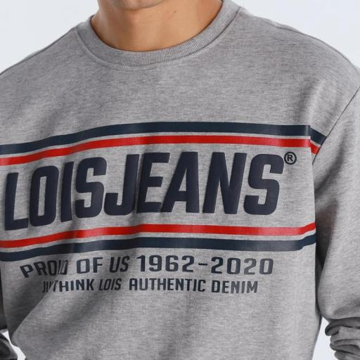 Lois Jeans Sudadera Ram Conan Gris [2]