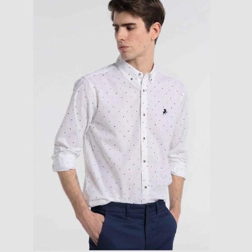 Lois Jeans Camisa Tropical Sea 121120