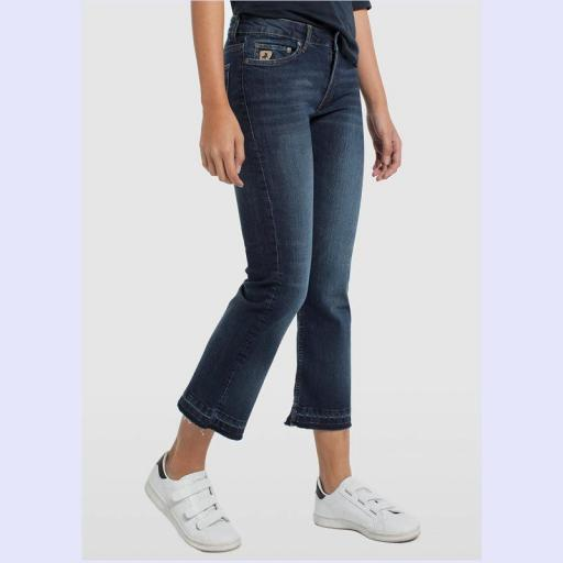 Lois Jeans Pantalón denim Coty Ankle Flare Elle 20140-2909. Vaquero mujer