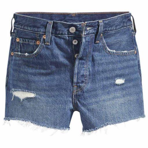 Levi's® 501 Original Shorts 56327-0018  Silver Lake - Vaquero corto mujer [2]