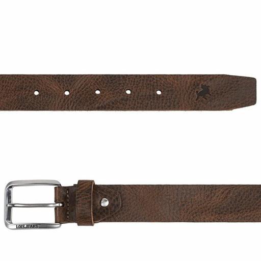 Lois Jeans Cinturón Logo Grabado marrón 501013-21 [1]