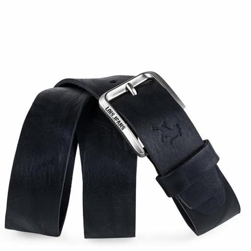 Lois Jeans Cinturón Logo Grabado 501013 negro