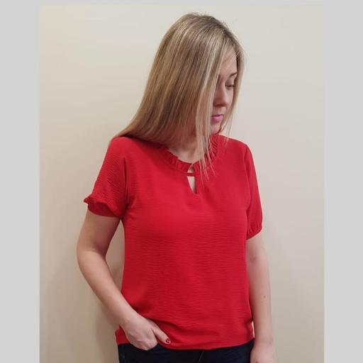 Cottonissimo Blusa Mujer Roja 63569 [1]