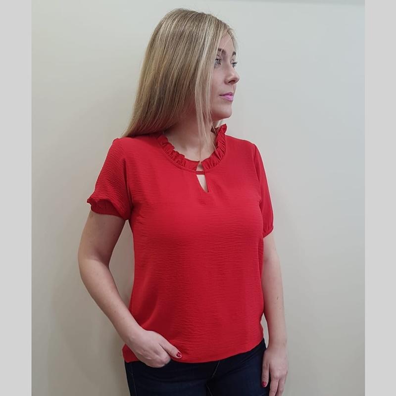 Cottonissimo Blusa Mujer Roja 63569