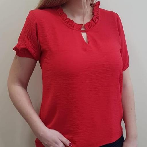 Cottonissimo Blusa Mujer Roja 63569 [2]