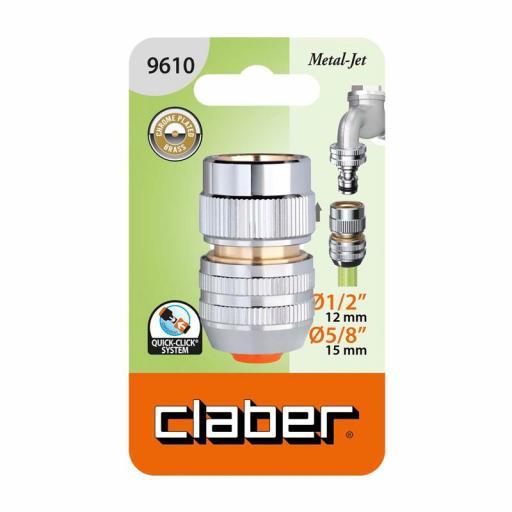 """Conector automático 1/2"""" - 5/8"""" Claber Metal-Jet 9610"""