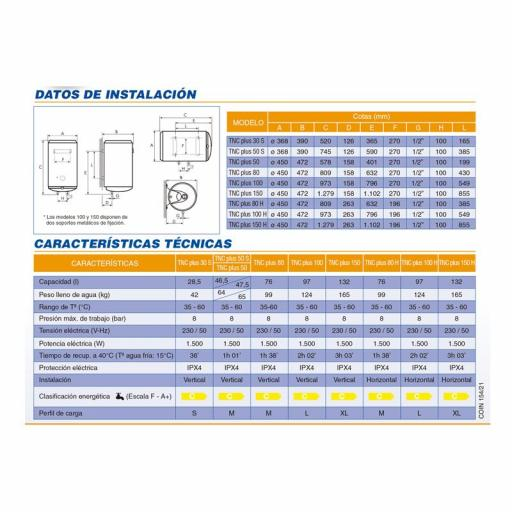 Termo eléctrico Cointra TNC-Plus [2]