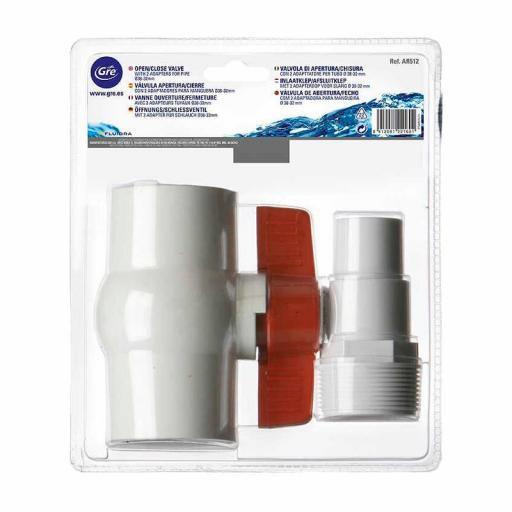 Válvula apertura-cierre manguera 32-38mm