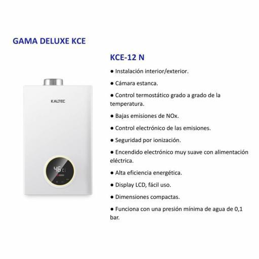 Calentador Estanco Gas natural Bajo nox Kaltec 12l.  [1]