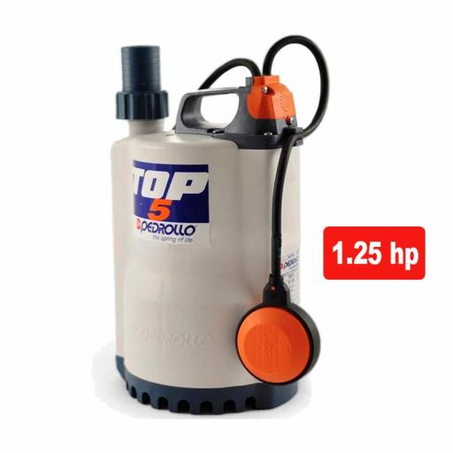 Pedrollo Top 5N - Bomba de achique aguas limpias