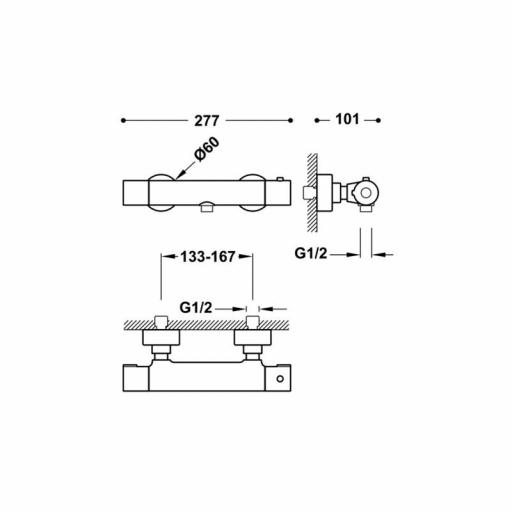 BASE-TRES PLUS Ducha termostática [1]