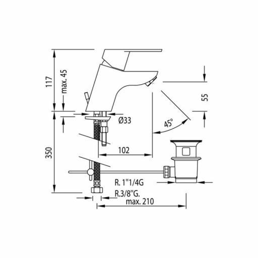 BM-TRES Monomando lavabo [2]
