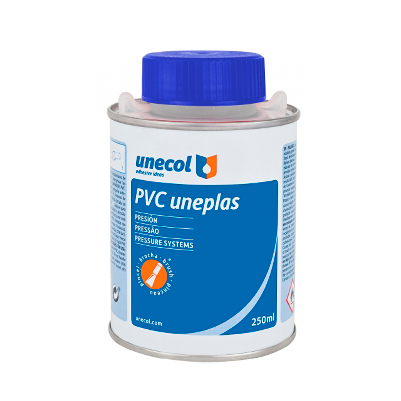 Adhesivo PVC Unecol Uneplas con pincel