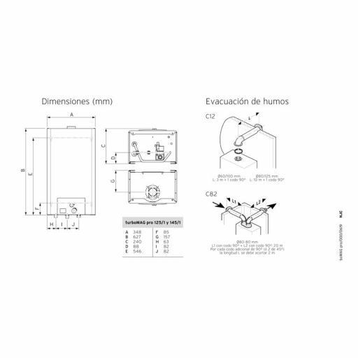Calentador Estanco Gas Butano bajo nox Vaillant turboMag pro  [2]
