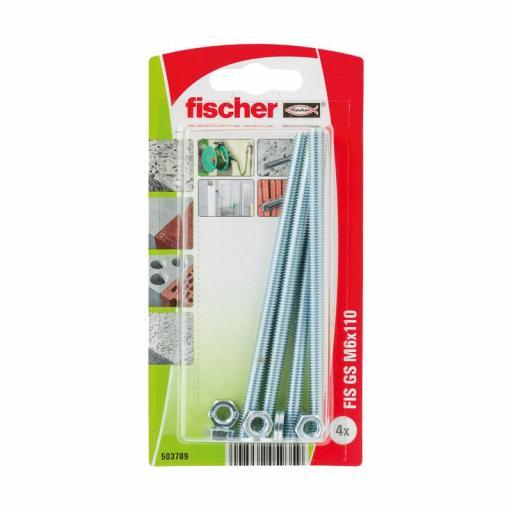 Blister Varilla roscada Fischer M-6 para taco químico