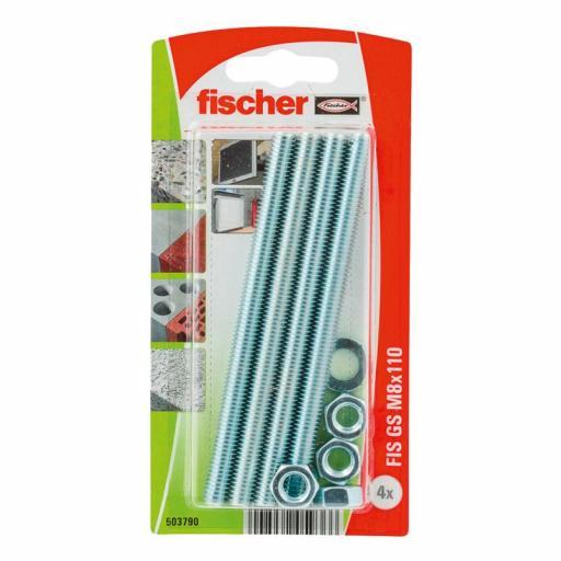 Blister Varilla roscada Fischer M-8 para taco químico
