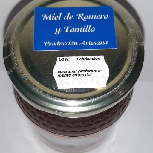 Miel de romero y tomillo de Asque [1]