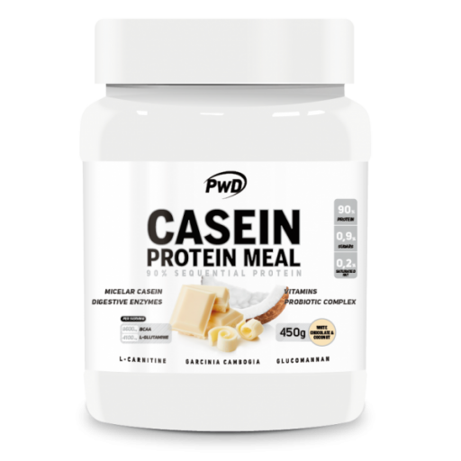 CASEIN PROTEIN MEAL CHOCOLATE BLANCO Y COCO 450 G