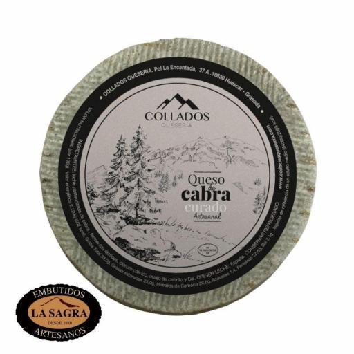 Queso De Cabra Curado Artesana Collados  (750 Gr Aprox.)
