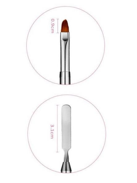 Pincel rojo ovalado y espátula [1]