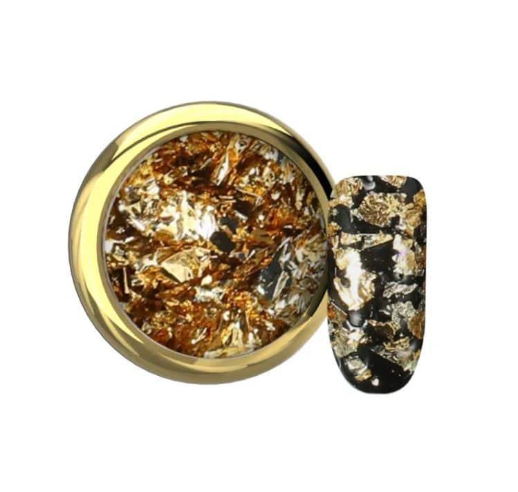 Flake foil gold Makear